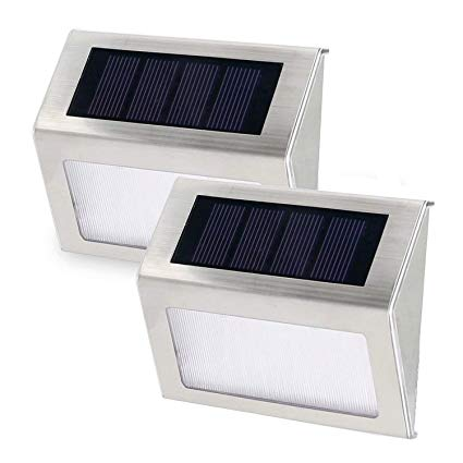 Amazon.com: Edelin Solar Step Lights LED Wireless Stainless Steel