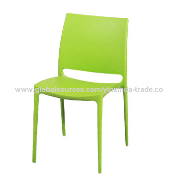 China Italian Design Bright Colored Plastic Stackable Chairs on
