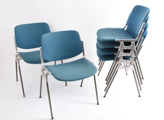 Vintage DSC 106 Stackable Chairs by Giancarlo Piretti for Castelli