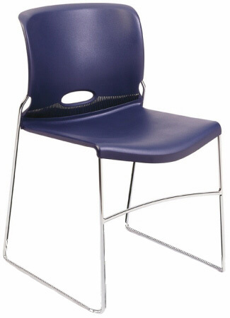 Stackable Plastic Chairs - HON Stackable Plastic Molded Chairs [4041]