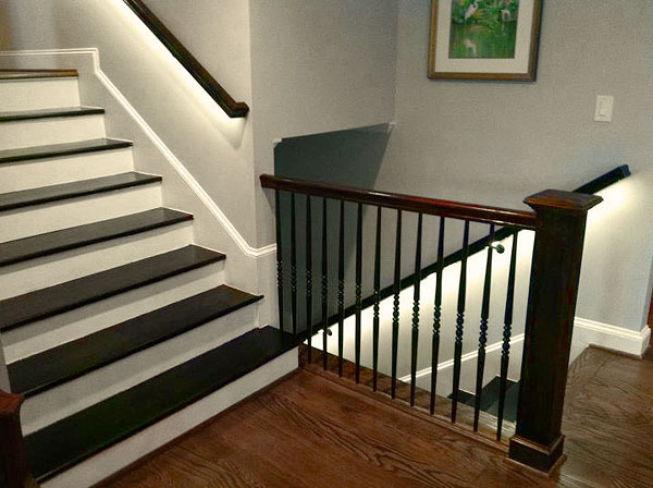 LED Strip Lighting brightens up this staircase with LED Strip in