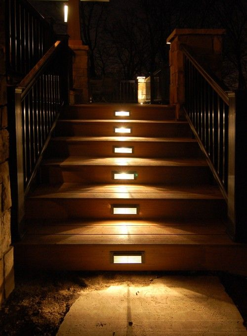 stair lighting for outdoor space | Dream house ideas - structure