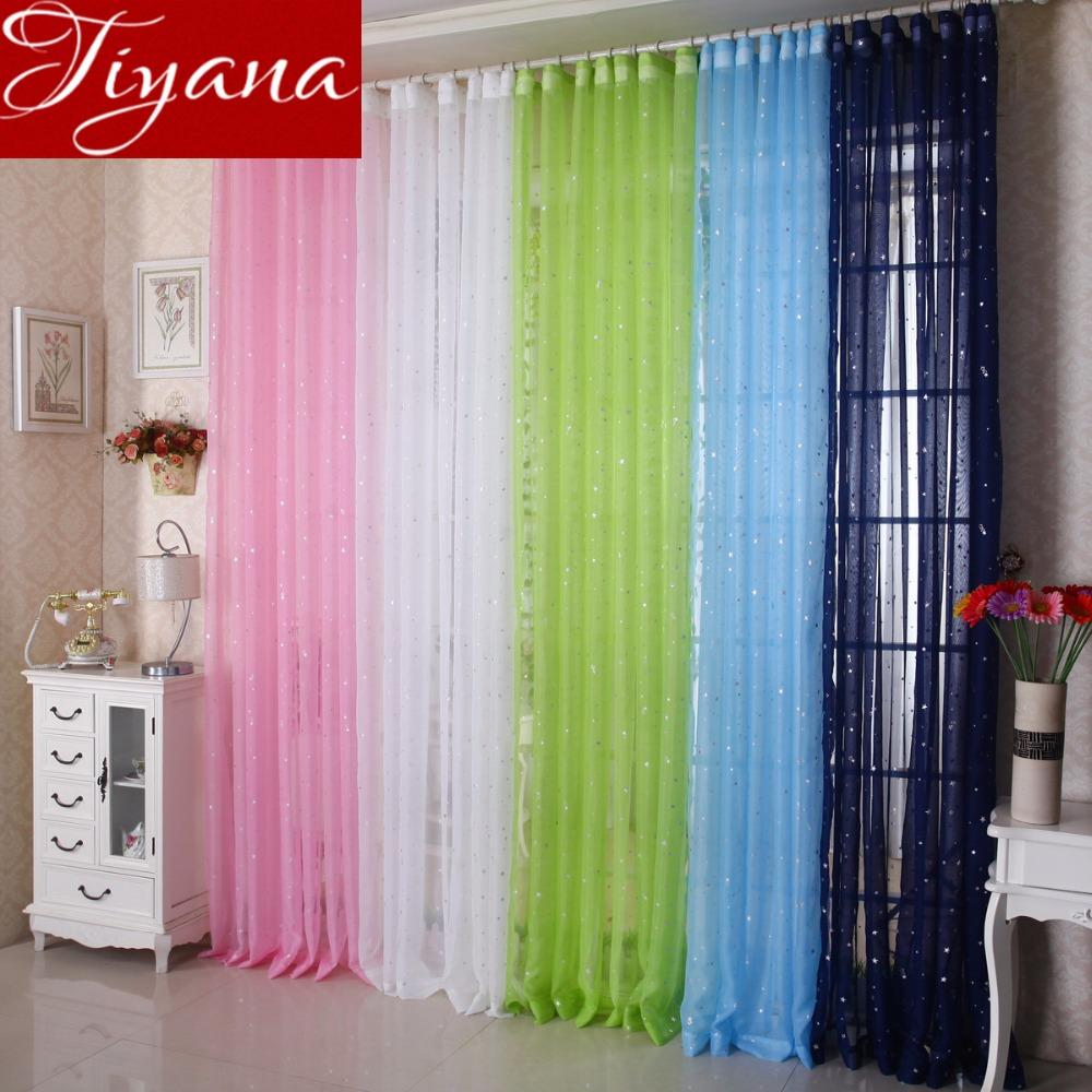 2019 Shiny Stars Baby Curtains White For Bedroom Modern Living Room Kitchen  Tulle Curtains Green Sheer Fabrics Treatment T&234 #20 From Blithenice,