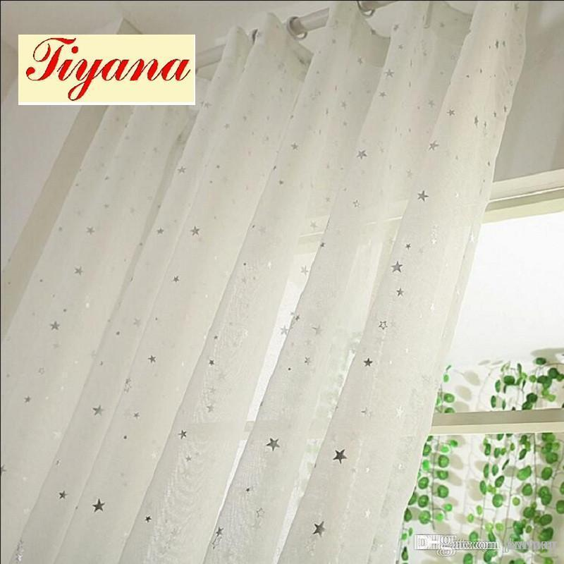 White Curtains Star Gauze Screening Window Tulle Curtain Modern Fashion  Fancy Tulle Sitting Room HOT SALE 2017 NEW WP234 *15 UK 2019 From Jamwer,