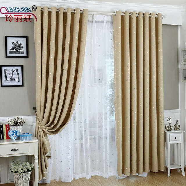 placeholder 2017 New Style Better Modern Star Curtains for Children Kid  Baby Room Curtain Polyester Cotton Soft
