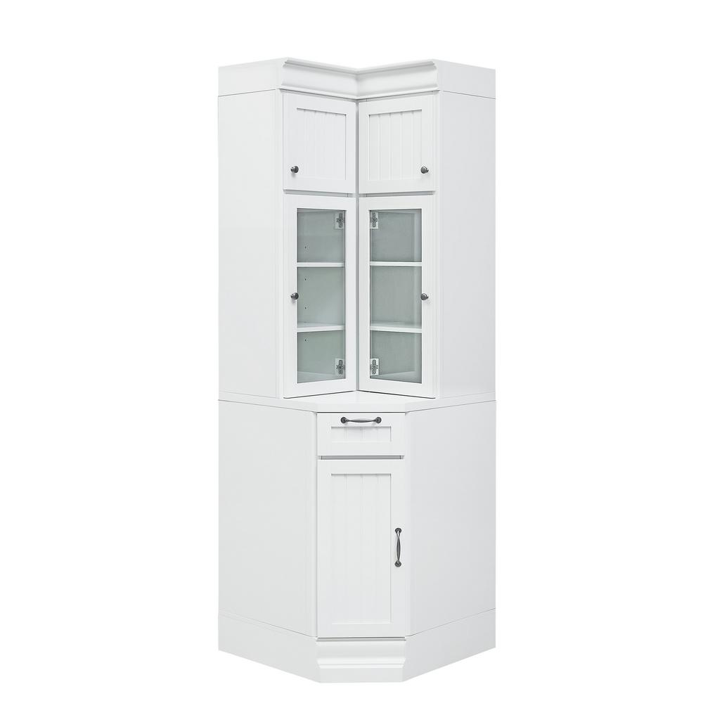 Home Decorators Collection Martingale True White Beadboard Modular Corner Storage  Cabinet-SK19194C-TW - The Home Depot