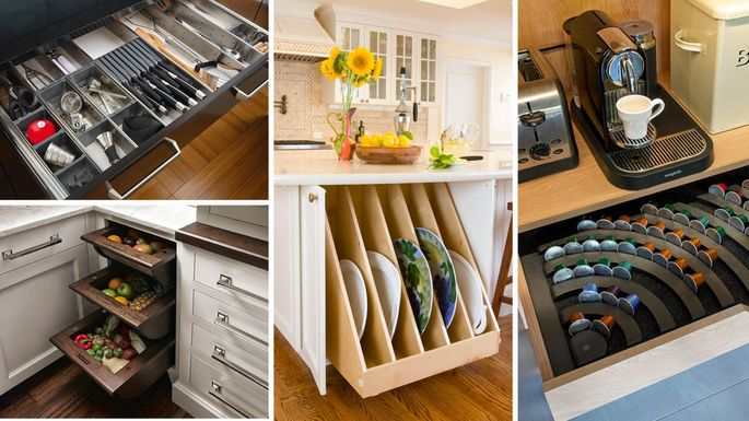 Genius Kitchen Storage Ideas for Cabinets, Drawers, and More