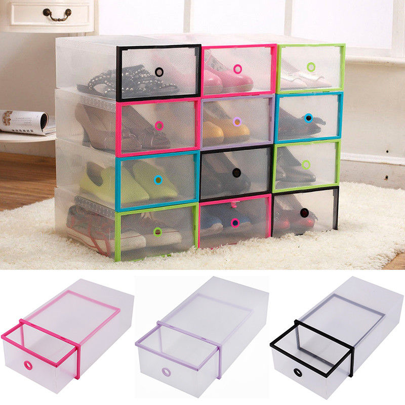 Yosoo 5PCS Shoe Box Drawer Home Organizers Clear Plastic Shoe Storage  Transparent Boxes Container for Shoes Organizer - Traveller Location