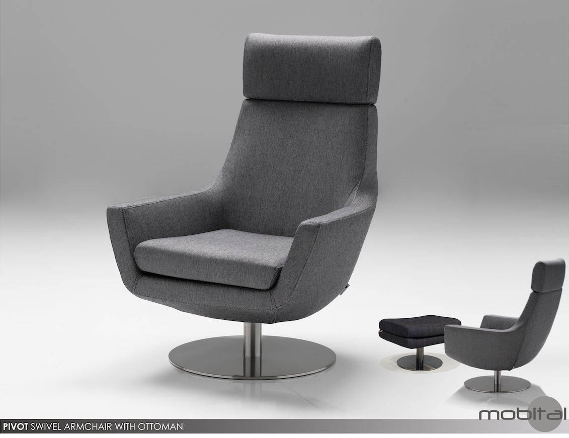 Pivot Swivel Chair & Ottoman By Mobital