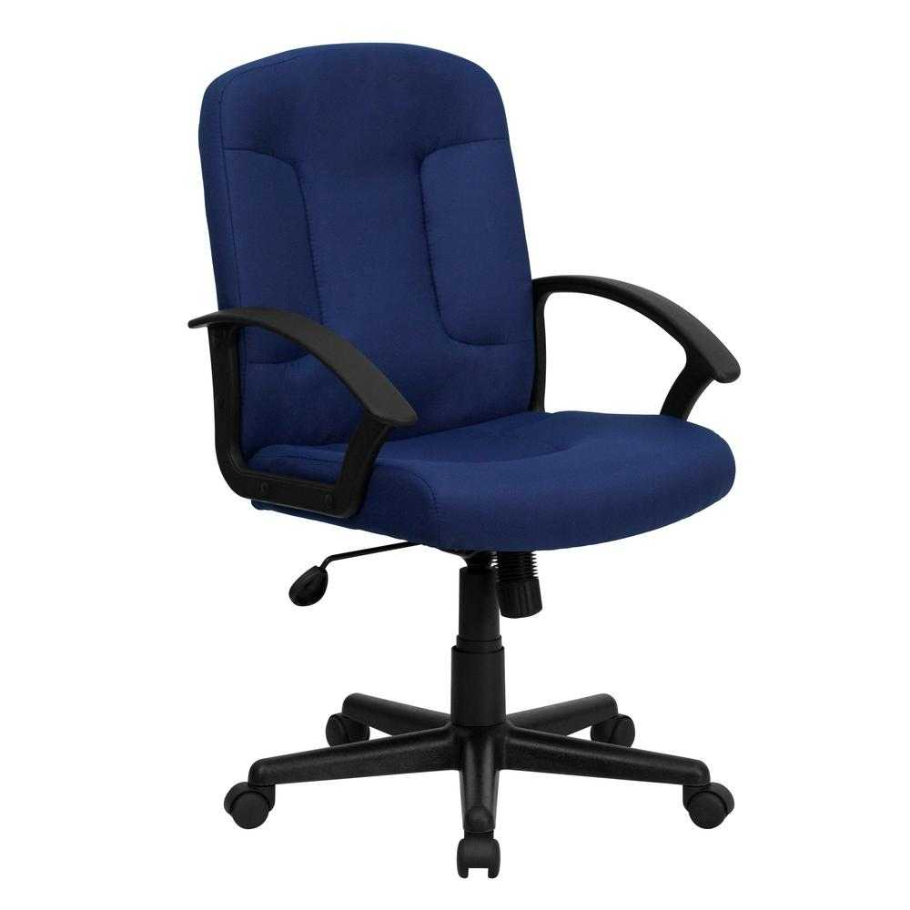 This review is from:Mid-Back Navy Fabric Executive Swivel Office Chair with  Nylon Arms