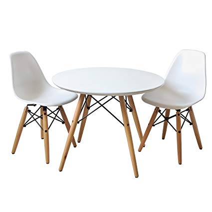 Traveller Location - Buschman Kids Modern Table with 2 Armless Chairs - Kitchen &  Dining Room Furniture