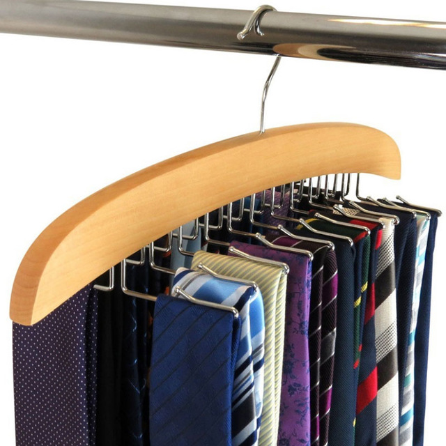 Thickening Solid Wood Tie Rack Frame Multi-functional Home Supplies Retro  Hanger Silk Scarf Hook Tie Belt Scarves Finishing Rack