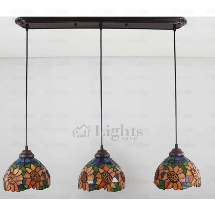 Beautiful Sunflower Downlight E27 Tiffany Pendant Lights