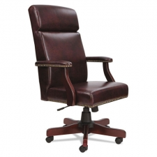 *New* Alera High Back Traditional Office Chair Oxblood Vinyl