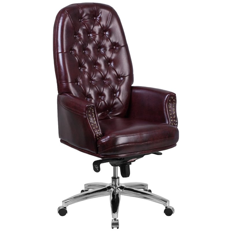 Scranton & Co High Back Traditional Office Chair in Burgundy - SC-1651779