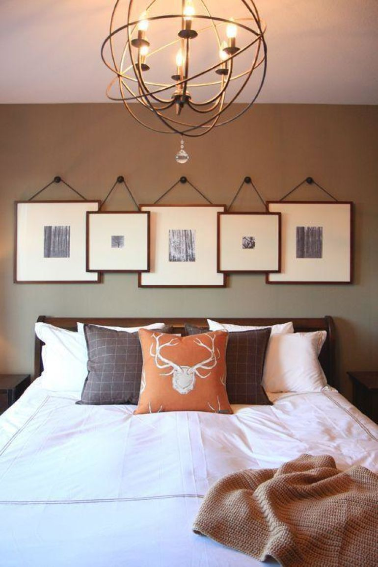 Transform Your Favorite Spot With These 20 Stunning Bedroom Wall Decor Ideas  - Hanging frames above the bed
