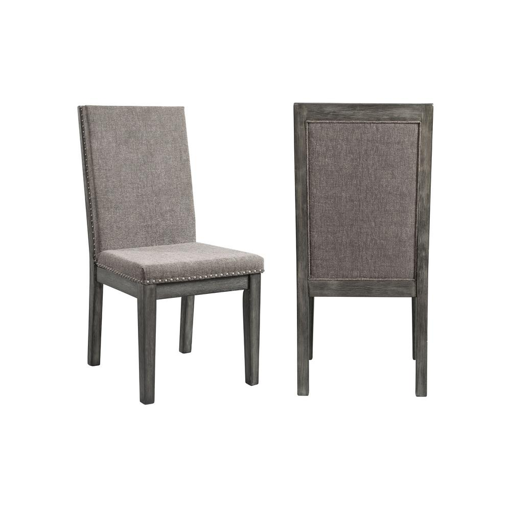 Picket House Furnishings Austin Grey Upholstered Dining Chair (Set of 2)