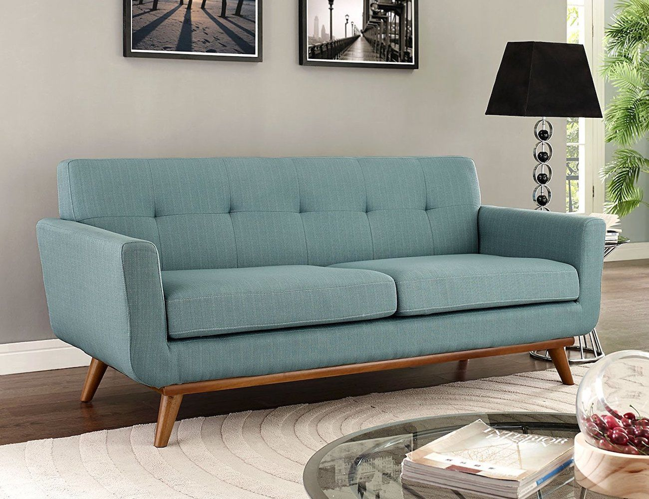 Modway Engage Upholstered Loveseat Sofa