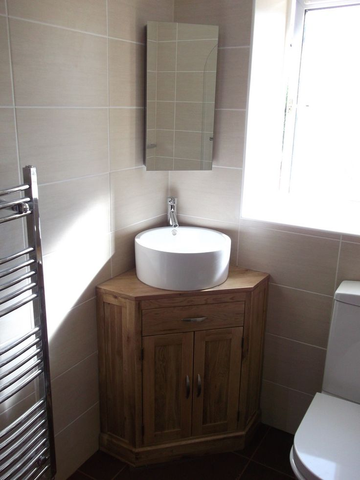 Corner basin units are ideal for en-suites and smaller bathrooms. … | Small  Spaces in 2019…