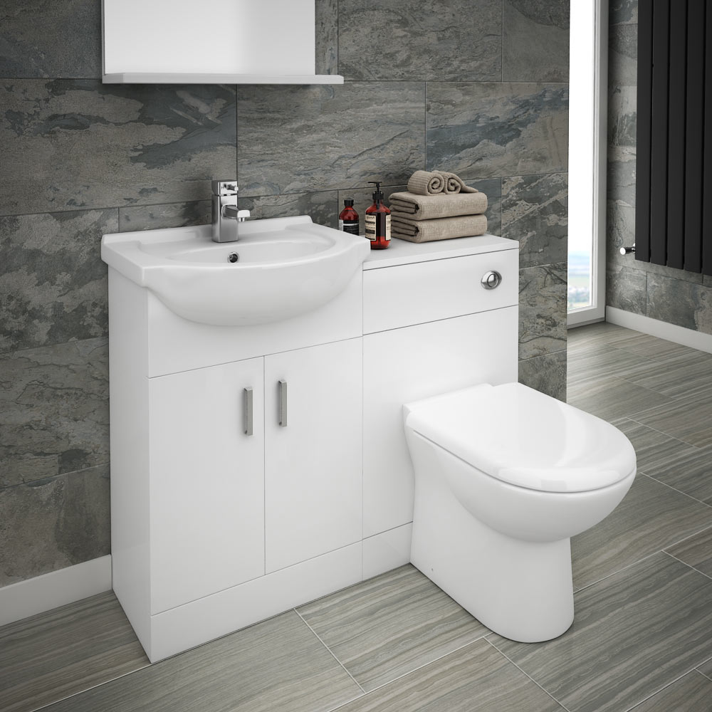 The Cove combined sink and toilet unit includes a basin, WC toilet and a  bathroom