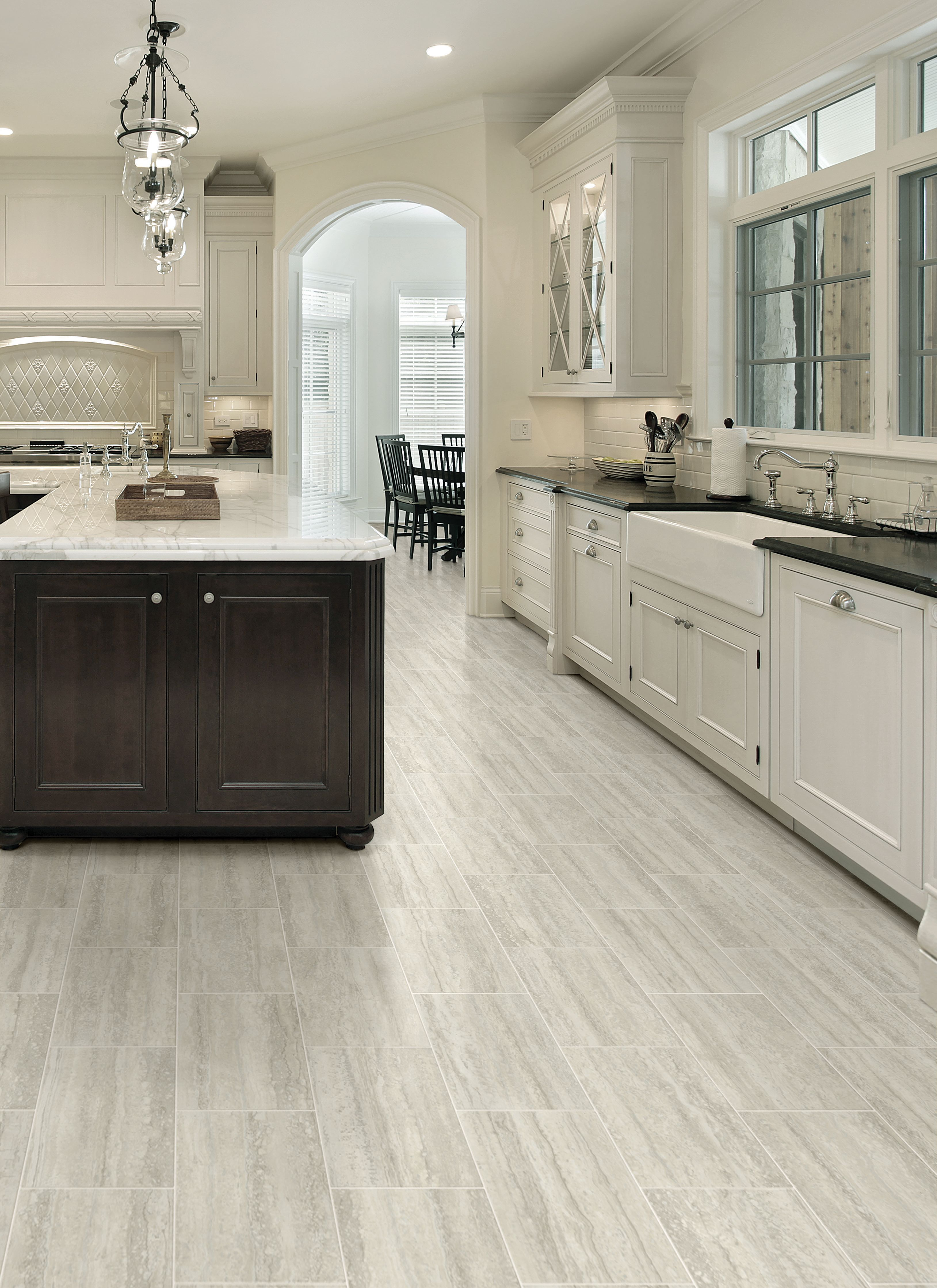 Modernize your kitchen with durable and comfortable sheet vinyl.