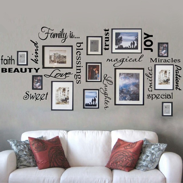 Free Shipping FAMILY IS vinyl wall lettering quote wall art / decor /  family room / sticker,Frames NOT included ,f1001b