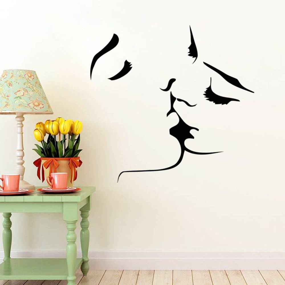 kiss wall stickers lover wall decal home bedroom wall decor romantic  stickers at Banggood sold out