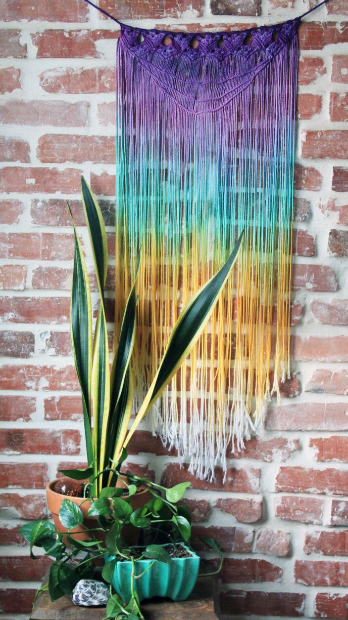 View in gallery Macrame wall hanging from Etsy shop Slow Down Productions