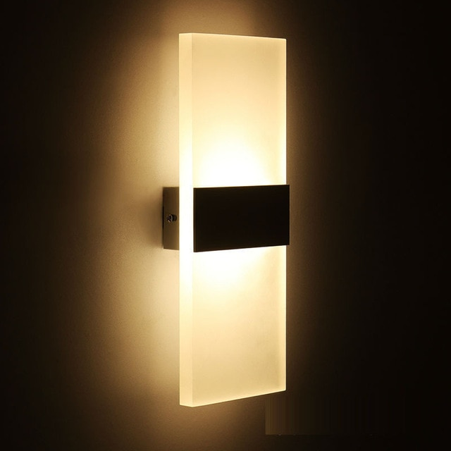 Mini LED Acrylic Wall Lamp Wall Mounted Bedroom Wall Lights Living