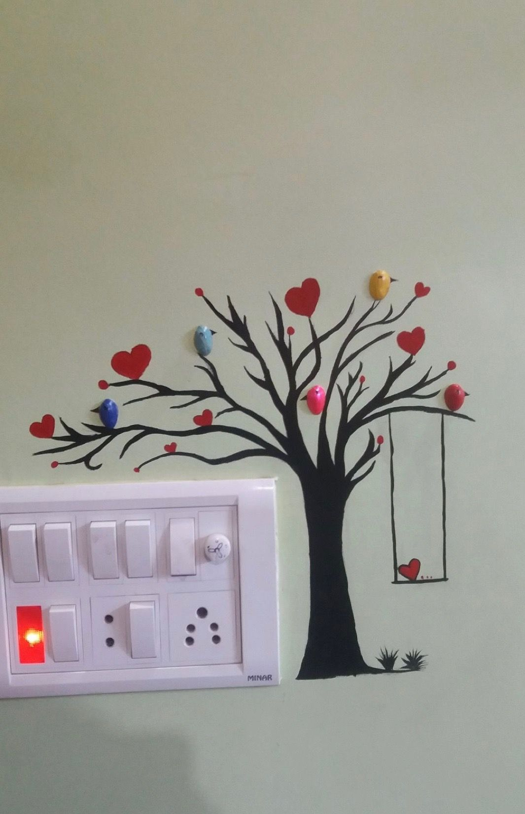 Wall art Diy Wall Painting, Mural Painting, House Painting, Room Wall Decor,