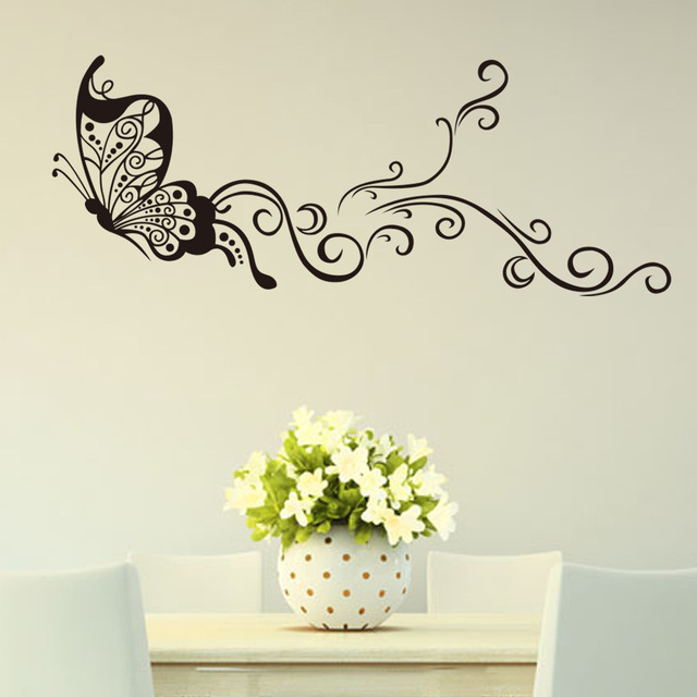 Butterfly wall stickers creativity personality wall decoration stickers  living room bedroom background wall painting DIY sticker