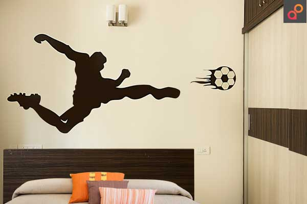 Kids Room. The Football Champ. Wall Painting Colorful Image Inspiration