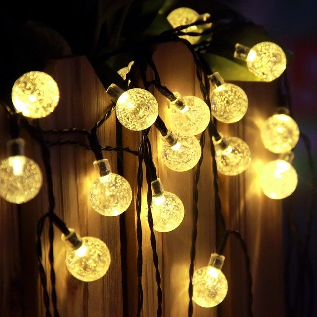 New RGB Led Outdoor String Lights 5M 40LEDs Crystal Ball Globe Fairy