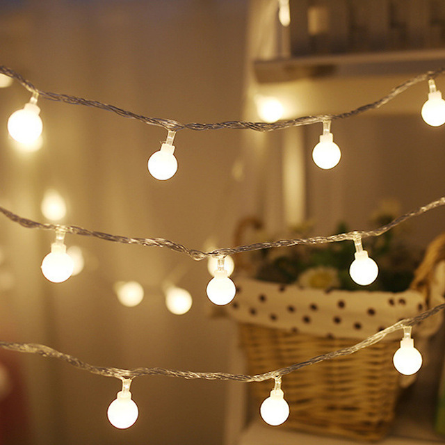 6M 40 LED String Light Outdoor Fairy Lights Bulbs Garden Patio
