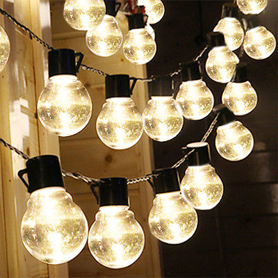 2x Outdoor String Lights Patio Party Home Yard Garden Wedding Solar