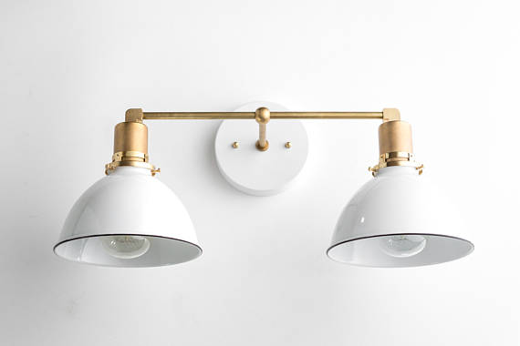 Bathroom Wall Light - Industrial Vanity Light - Brass Light Fixture