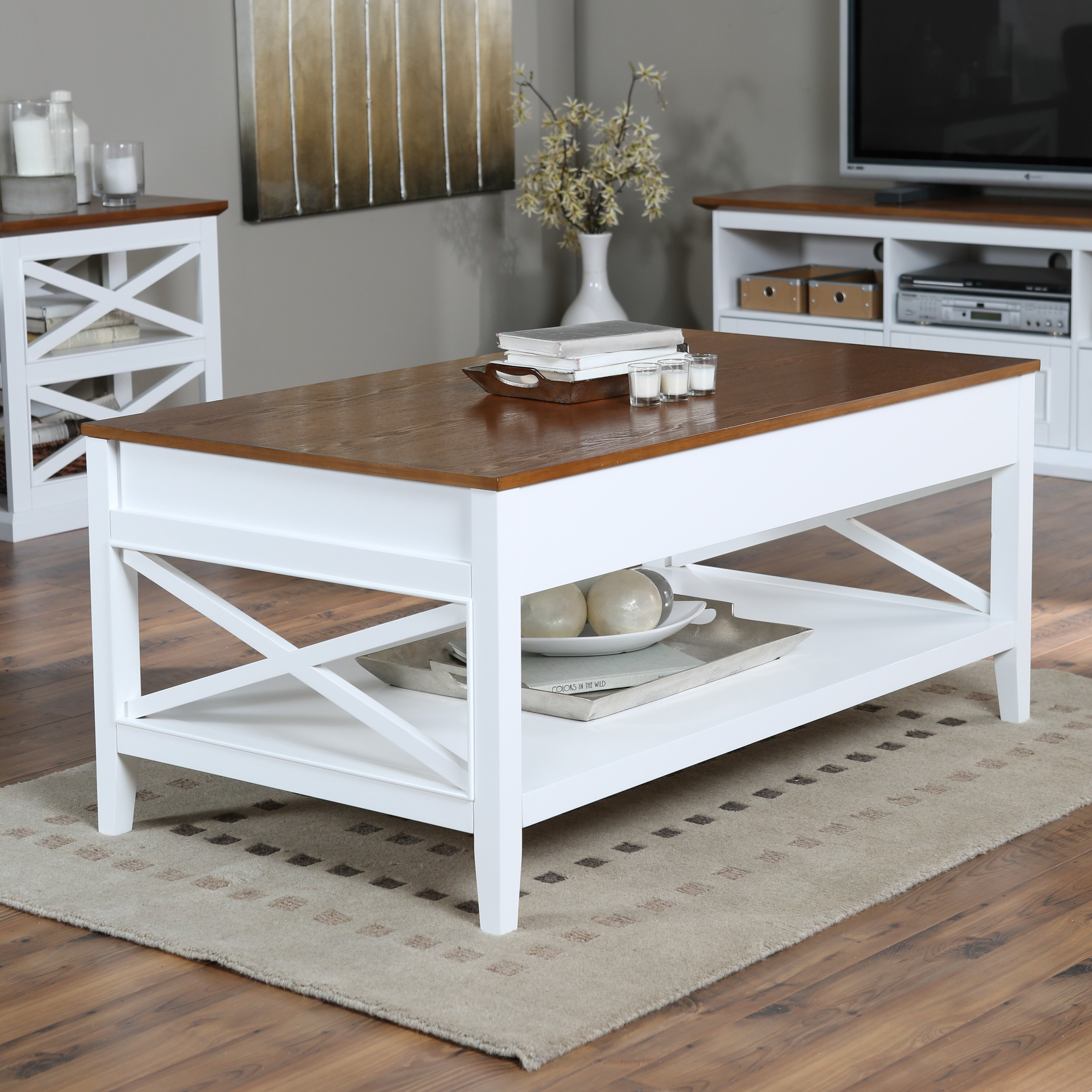 Peacefulness with white coffee table