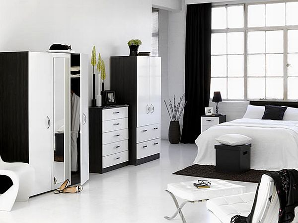 decorate a bedroom with white furniture