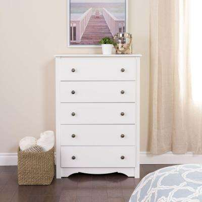 Monterey 5-Drawer White Chest