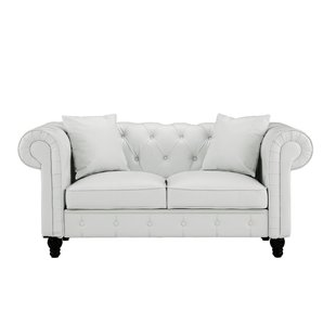 Faux Leather White Loveseats You'll Love | Wayfair