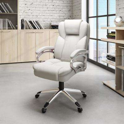 Workspace Executive Office Chair in White Leatherette