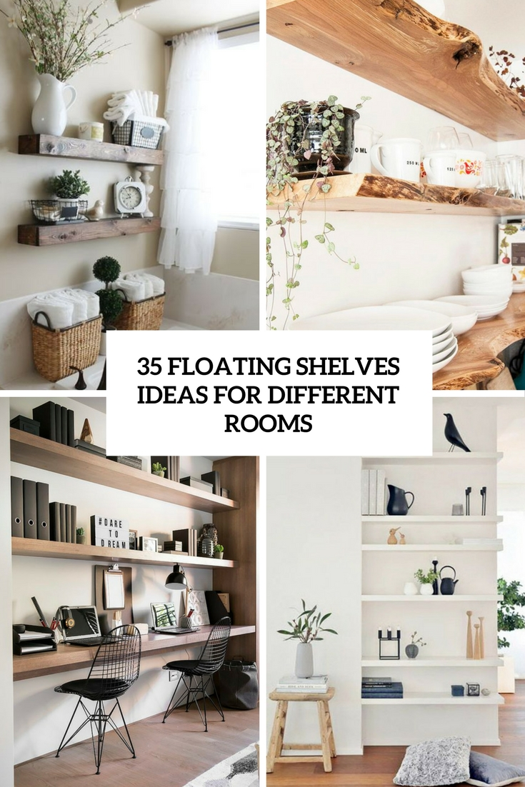 floating shelves ideas for different rooms cover