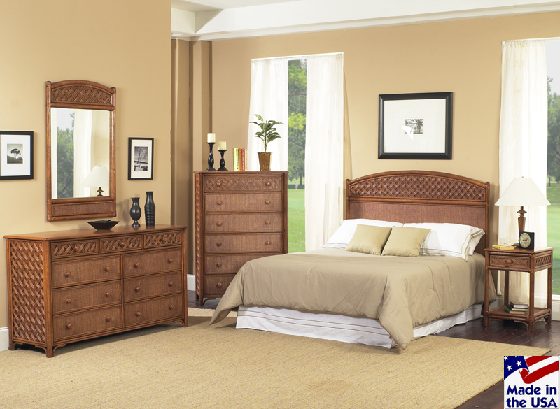 Rattan and Wicker Bedroom Furniture Sets | Wicker Dresser and