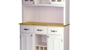 Home Styles White and Natural Buffet with Hutch-5100-0021-12 - The Home  Depot