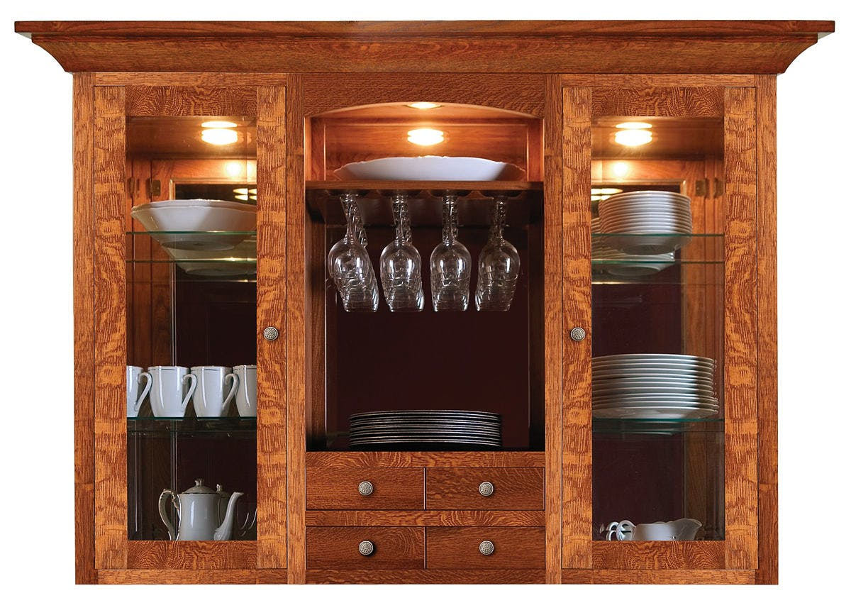 Cove Hollow China Hutch Top SW8881