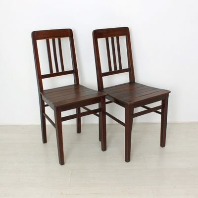Vintage Wooden Chairs, 1920s, Set of 2 1