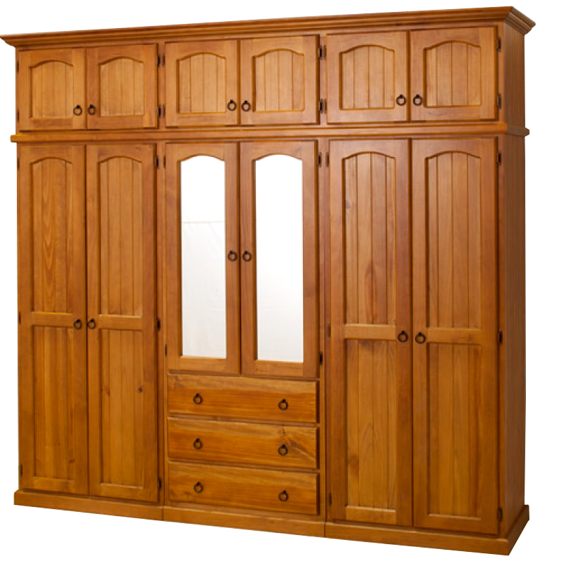 WB 101 wooden wardrobe with mirror