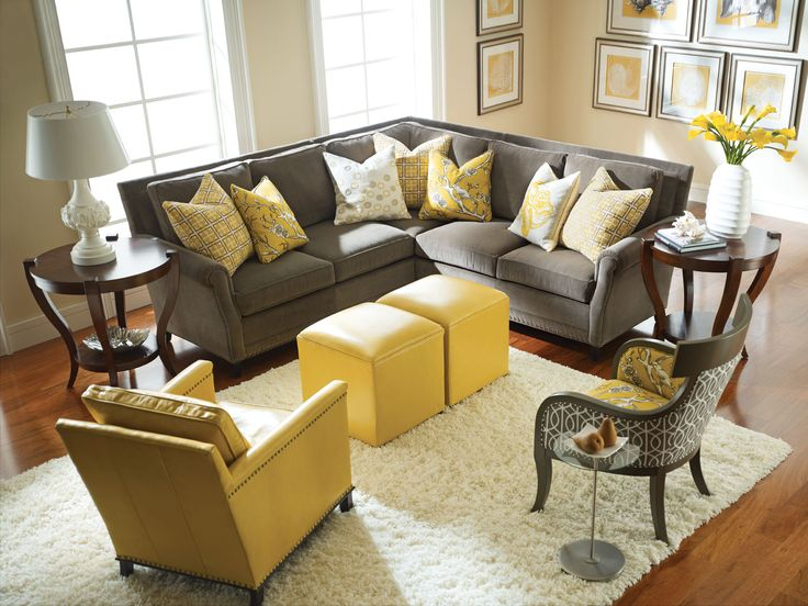 Yellow and Gray Rooms | Decorating | Living room grey, Grey, yellow living  room, Living room decor