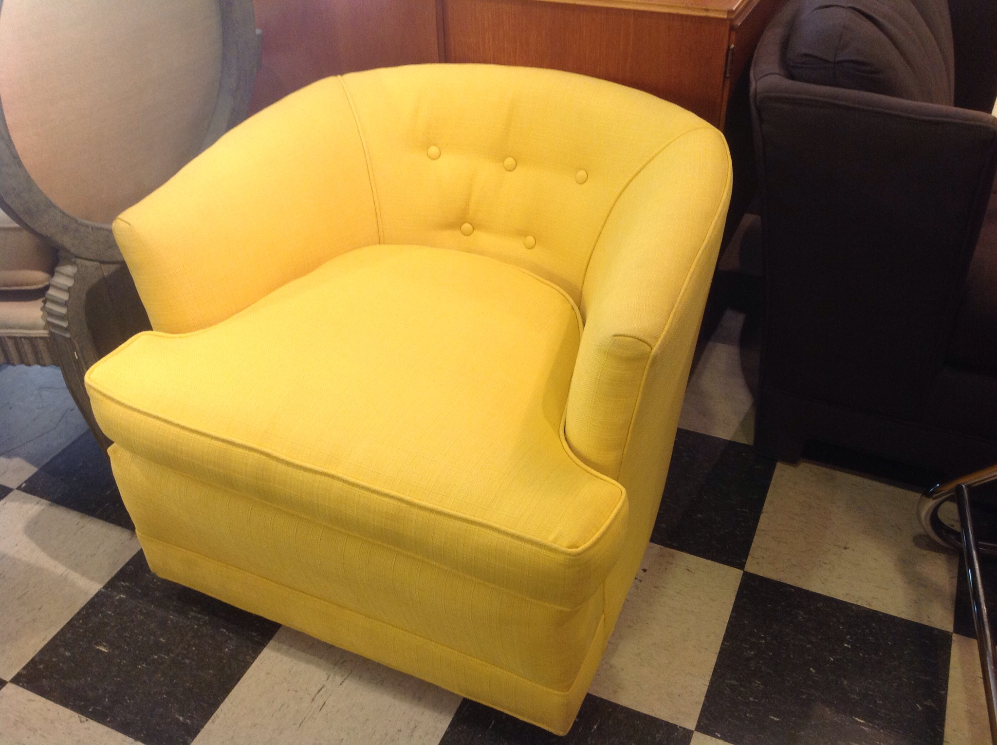 Bright Yellow accent club chair