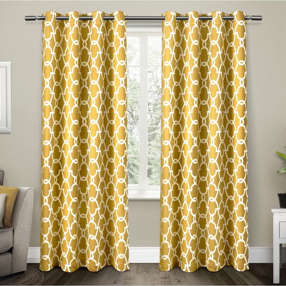 Gates Sundress Yellow Sateen Blackout Thermal Grommet Top Window Curtain-EH8024-05  2-96G - The Home Depot